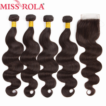 Miss Rola Hair Pre colored Ombre Peruvian Body Wave Hair 2 Non Remy 100 Human Hair