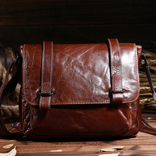Mens genuine leather bag,satchel,clutch,school bag,cross body bag,sling,cowhide leather,vintage style,brown color,new0071/D-1089