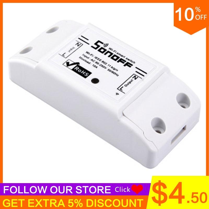 Sonoff Basic Smart Wifi Switch Universal DIY Remote Wireless Smart Switch Domotica Wifi Light Switch Smart Home Components Alexa