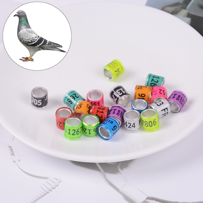 20pcs/lot Pigeon Leg Rings Identify Dove Bands Aluminium Rings For Pigeons Plastic With Al Gb Rings Pigeon Training Supplies Home & Garden Pet Products