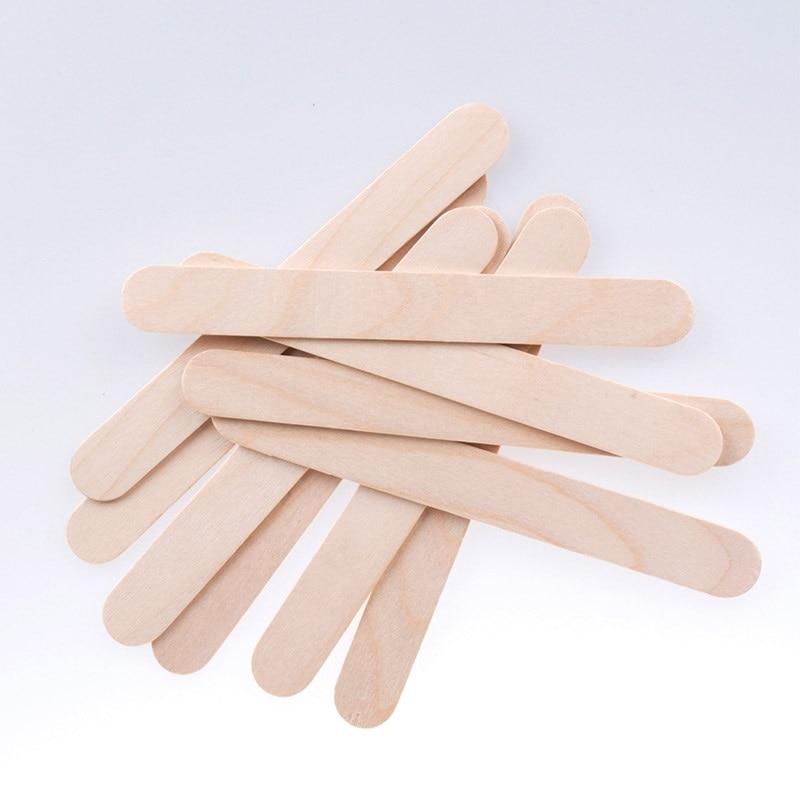 10/50/100PCS Disposable Wooden Tongue Depressors Wooden Hair Removal Tattoo Waxing Spatula Stick Tongue For Coating Beauty Tools