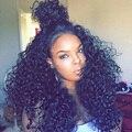 Бразильский Глубокая Волна Glueless Фронта Шнурка Человеческих Волос Парики 250% Высокая плотность Полный Шнурок Человеческих Волос Парики Черные Женщины Вьющиеся Lace Wig