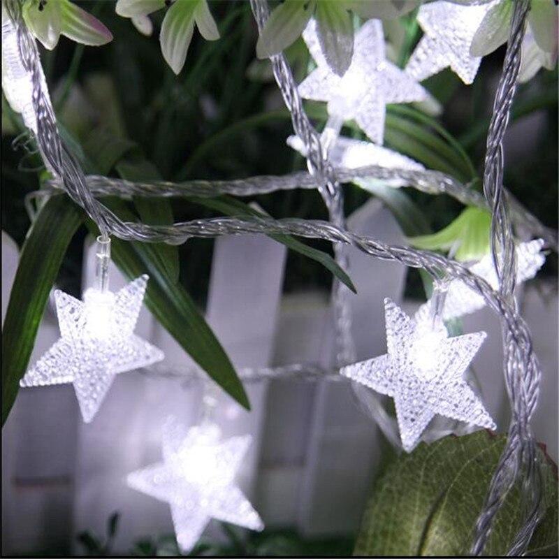 220V 10M 50Led Lampu Krismas Pokok Salji Bintang String Fairy Lampu - Pencahayaan perayaan - Foto 2