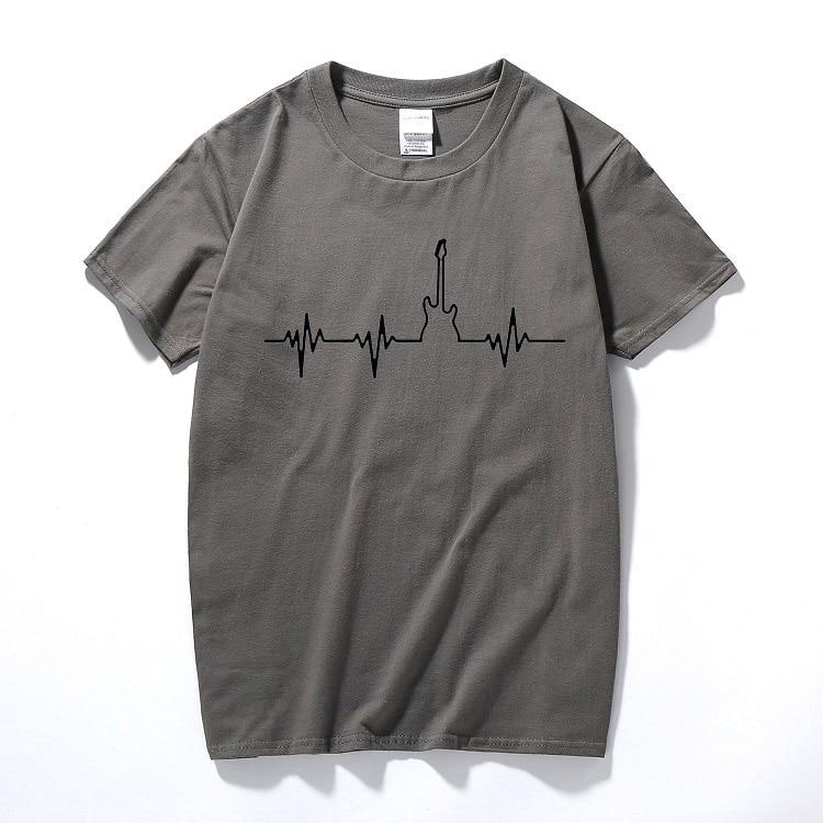 Bass Guitar Heartbeat Music Festival T-shirt T Shirt Tshirt Valentine Birthday Gifts Present For Men Boyfriend Girlfriend Couple