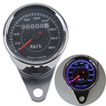 New Universal Chrome&Black Motorcycle Odometer Speedometer Tachometer Speedo Meter LED Backlight KM/H For Honda Yamaha BMW Motos