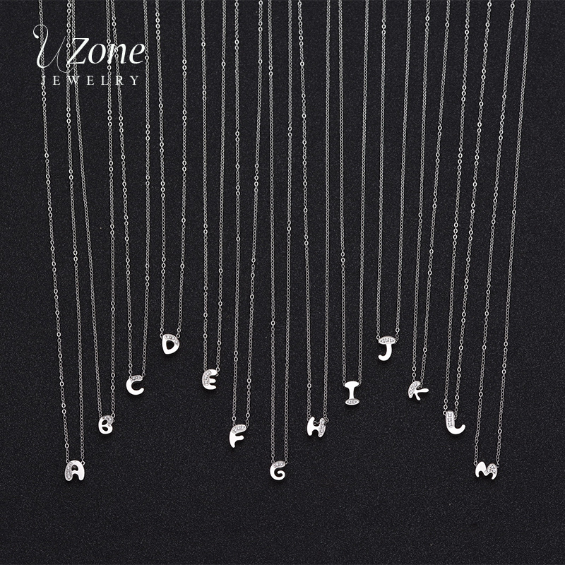 Fashion Letter Pendant Necklaces Letter Initial Stainless Steel Necklace Jewelry For Women