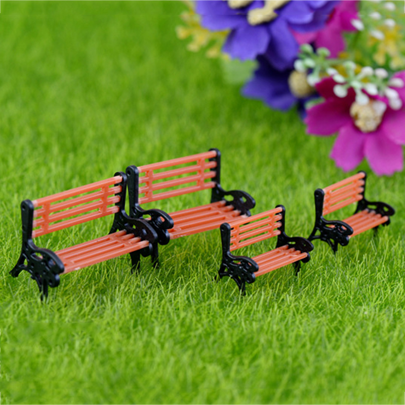 1pcs New Arrival Mini Garden Park Bench Craft Fairy Dollhouse Decor Outdoor Forestwoods Home Wedding Party DIY Decoration