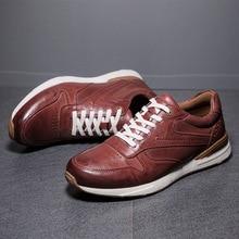 Брендовые мужские повседневные туфли из натуральной кожи; мужские туфли-оксфорды на плоской подошве; обувь наивысшего качества; мужские кроссовки