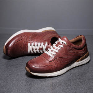 Men Sneakers Oxford-Shoes Genuine-Leather Brand Flats Soft Top-Quality