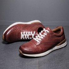 Brand Men Casual Shoes Genuine Leather Flats Soft Oxford Top Quality Outdoor Sneakers