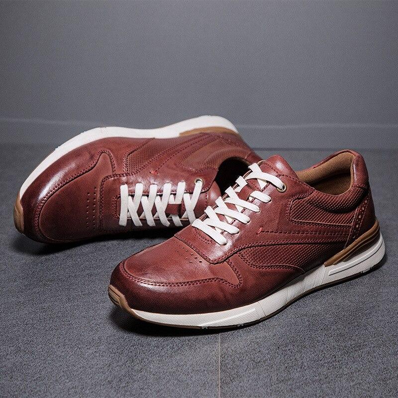 Marque hommes chaussures décontractées en cuir véritable chaussures plates pour homme chaussures Oxford souple Top qualité chaussures de plein air hommes baskets