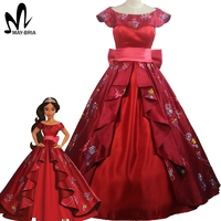 Elena Of Avalor Princess Elena Cosplay Costume Red Embroidery Elena Dress Halloween Costumes For Adult Women