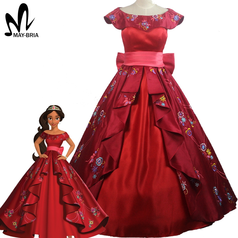 Elena of Avalor Princess Elena cosplay costume Red