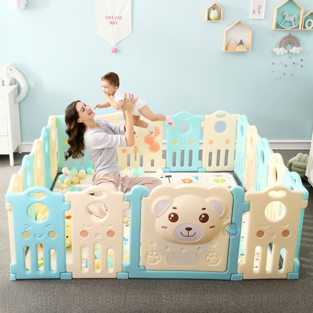 Atividade de Proteção Da Criança Do Bebê seguro Caminhar Rastejando Cerca Jogo Do Bebê Interior Crianças Espaço de Jogo Cerca