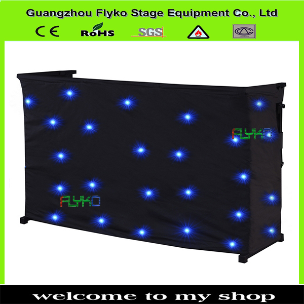 Led Table Curtain For Dj Decoration Rgb3in1 2x4m In Stage
