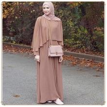 ZOGAA Summer Fashion Women Muslim Dress Rivet Long Sleeve Solid Abaya Kaftan Islamic Arab Robe female Maxi
