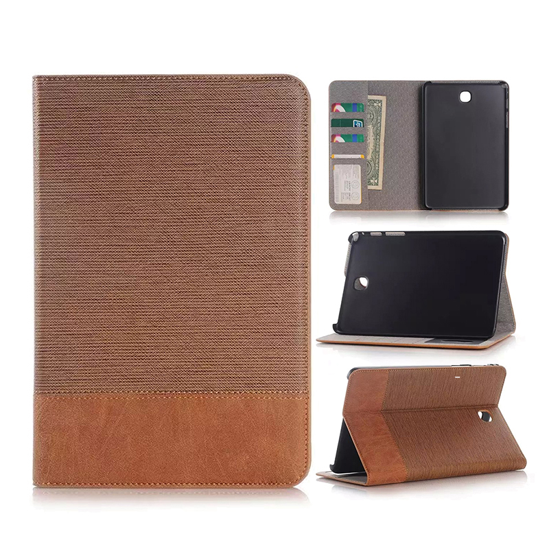 SM-T715C Leather Flip Stand Wallet Cover Case spell colour Card Slot Case  Cover For  Samsung Galaxy Tab S2 8.0 T710 T715 Cases keymao luxury flip leather case for samsung galaxy s7 edge