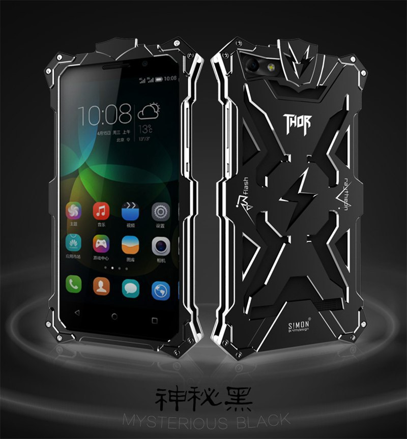 New Arrival Luxury Thor Aluminum Metal Case For Huawei Honor 4C Case For Huawei 4C Top