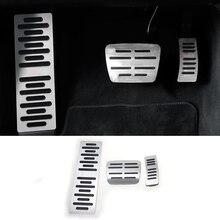 Автомобиль для укладки тормозных акселератора топлива авто покрытия для педалей наклейки для Audi A6 C7 A1 A7 ног дроссельной заслонки интерьер авто аксессуары