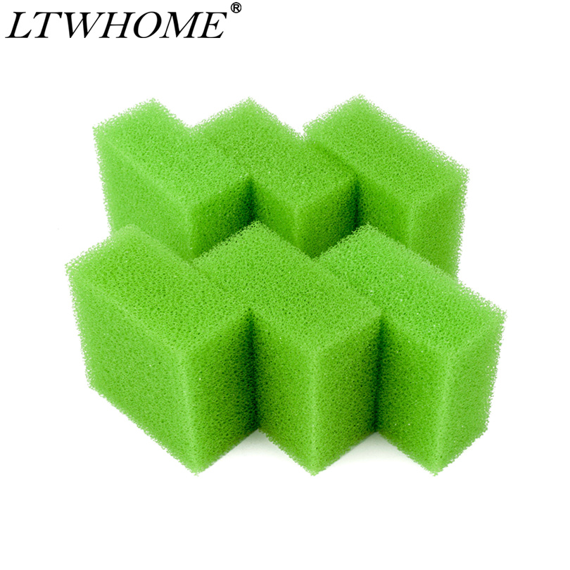 LTWHOME Compatible Medium Aquarium Foam Filter Pads Fit For Juwel Compact / Bioflow 3.0