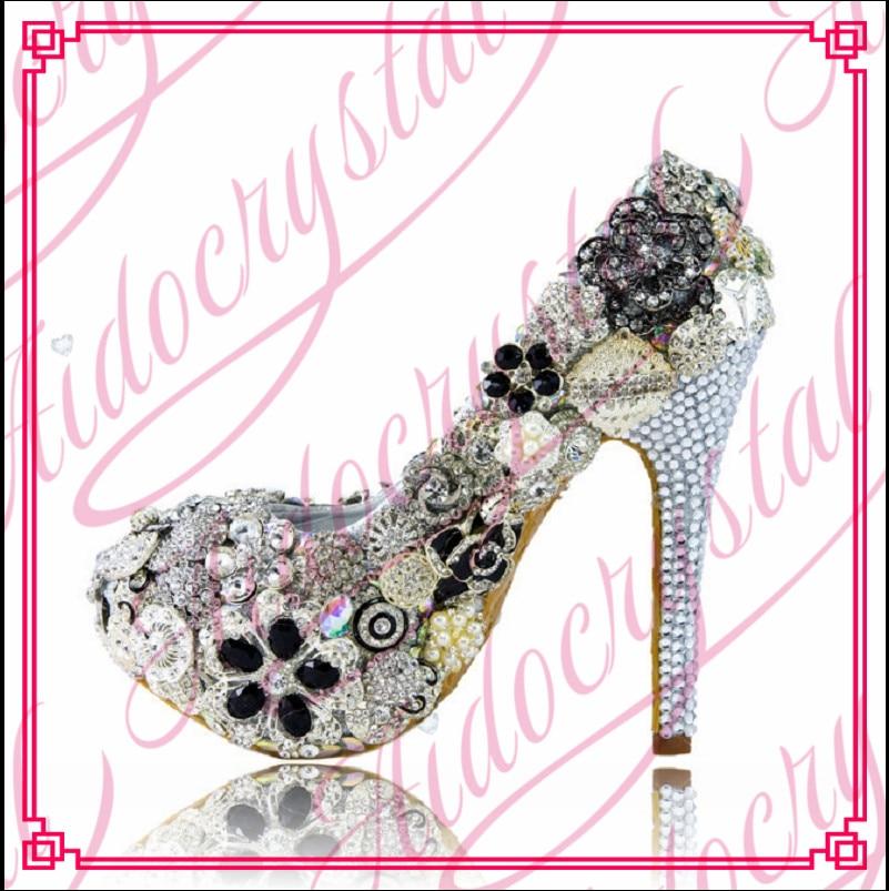Aidocrystal Handmade Wedding Bridal Shoes Women Evening Party Dress Pumps Platform Rhinestone High Heel Bling barton wallpapers фотообои m14602 200х270 см