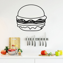 NEW humburger Self Adhesive Vinyl Waterproof Wall Decal Decals Decoration Accessories