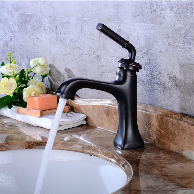 New Arrivals brass Basin Faucet hot and cold Water Faucet black single lever Wash Faucet Crane bathroom sink faucet basin tap new arrivals single lever basin faucet hot and cold water tap gold kitchen sink faucet water tap 4 colors kitchen faucet