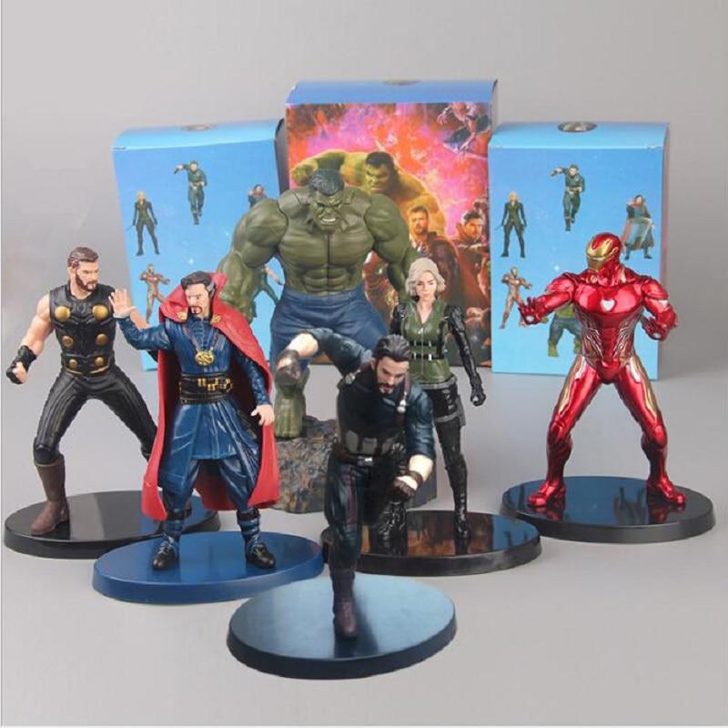 Us 11 16 45 Off Anime Marvel The Avengers Collection Doll Action Figure Toy Cartoon Thor Doctor Strange Iron Man Natasha Romanoff Toys Gift In