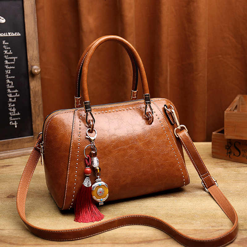 Brown patente casual tote bolsa das senhoras bolsa de couro genuíno mensageiro bolsa de ombro feminino alça superior sacos mão senhora t55
