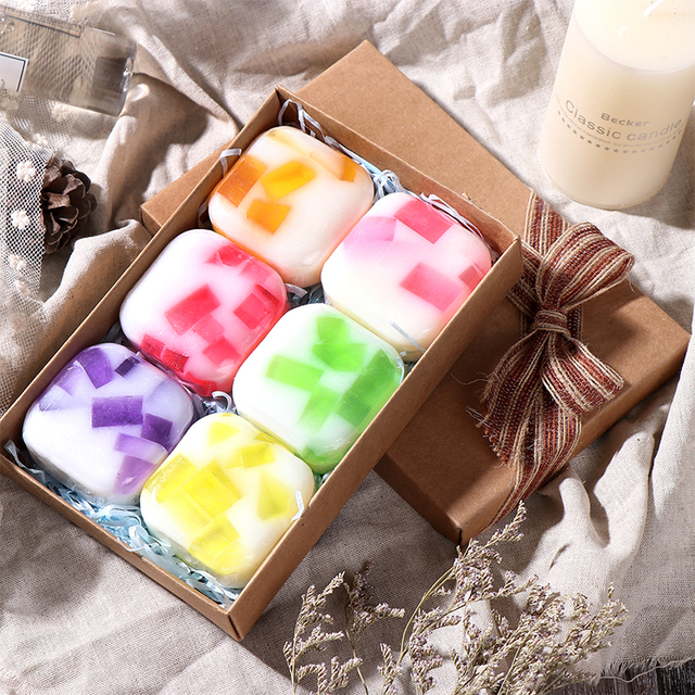Tsing 6X100g Handmade soap Essential oil Moisturizing Nourishing Scented Soap Set Soap Natural Soap Gift Set Lavender Rose