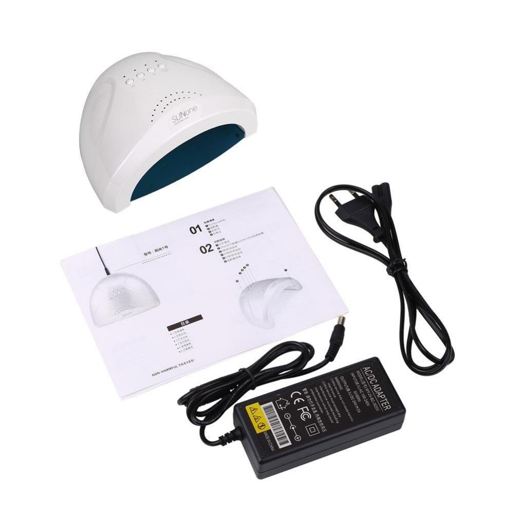 ФОТО US/EU Plug LED Nail Dryer White Light UV Lamp Fast Drying Gel Polish Curing Manicure 48W