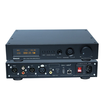 Singxer SDA-2 DAC NOS Native decoding DSD512, AK4497 Decoder Headphone Amplifier