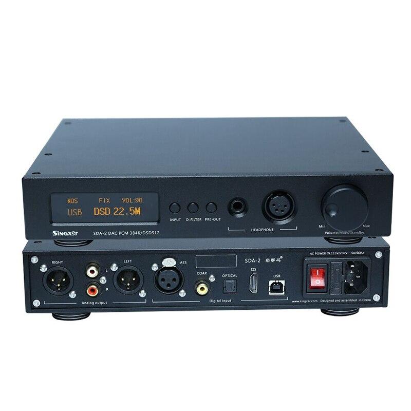 Singxer SDA-2 DAC NOS Native decoding DSD512, AK4497 Decoder Headphone Amplifier