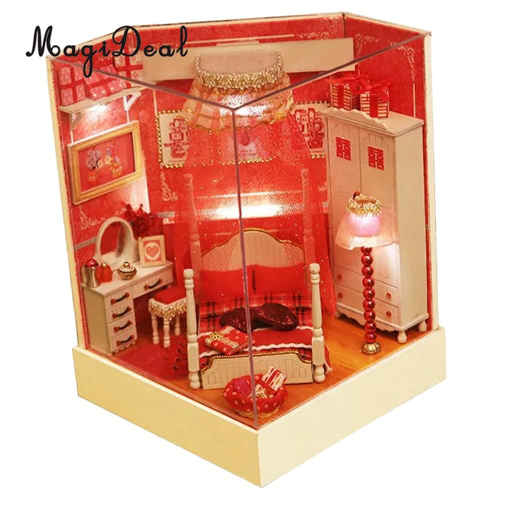 1/24 Scale Creative DIY Miniature Dollhouse Romantic Love Doll House  Furniture Kits Kid Toy