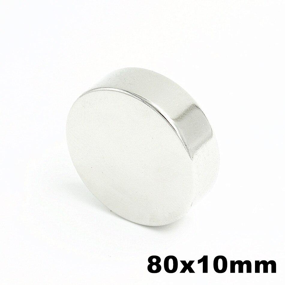 1pcs Super Powerful Strong Bulk Small Round NdFeB Neodymium Disc Magnets Dia 80mm x 10mm N35 Rare Earth NdFeB Magnet цена