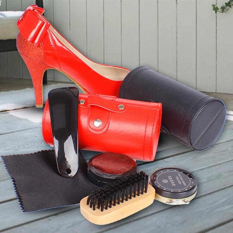 プロフェッショナル屋外旅行靴磨きケア木製ポリッシュクリームブラシキット高ヒール靴クリーニングツール