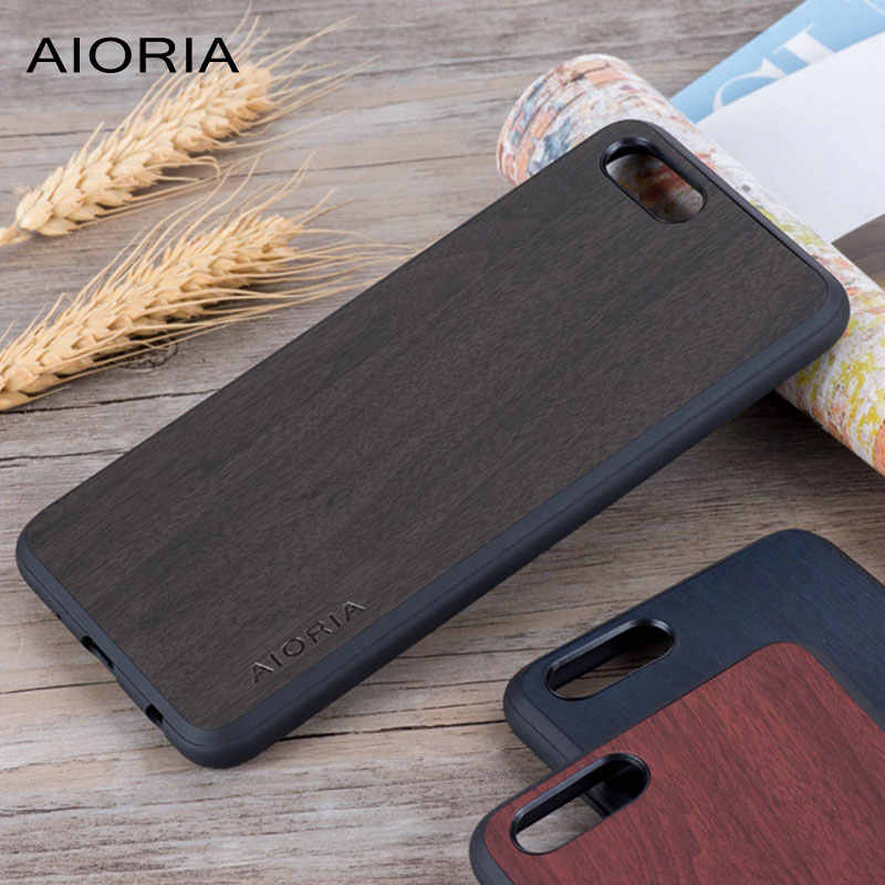 Wooden design case for Huawei Honor View 10 soft TPU silicone & PC & wood PU leather skin covers coque fundas for Huawei V10