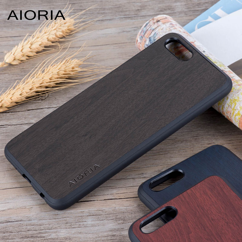 Wooden design case for Huawei Honor View 10 soft TPU silicone & PC & wood PU leather skin covers coque fundas for Huawei V10 image