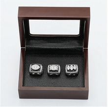 Gorgeous Ring sets with Wooden Boxes Replica Super Bowl Copper High Quality 3pcs/Packs Oakland Raiders world Championship Ring