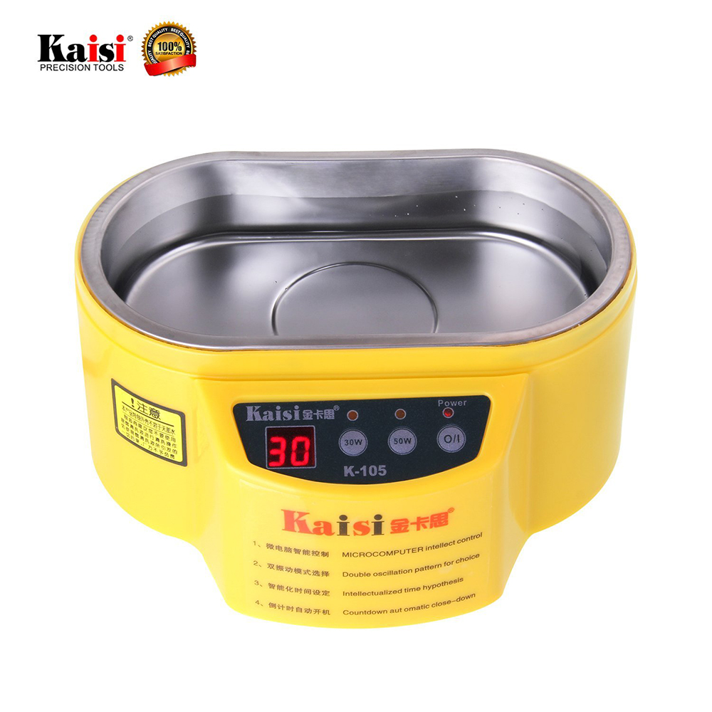 KAISI Mini Ultrasonic Cleaner With Digital Timer For ewelry Watch Glasses Circuit Board limpiador ultrasonico 110V/220V 35W/60W digital 3 2l ultrasonic cleaner parts electronic dental instrument tanks glasses circuit board injectors 3l washer heater timer