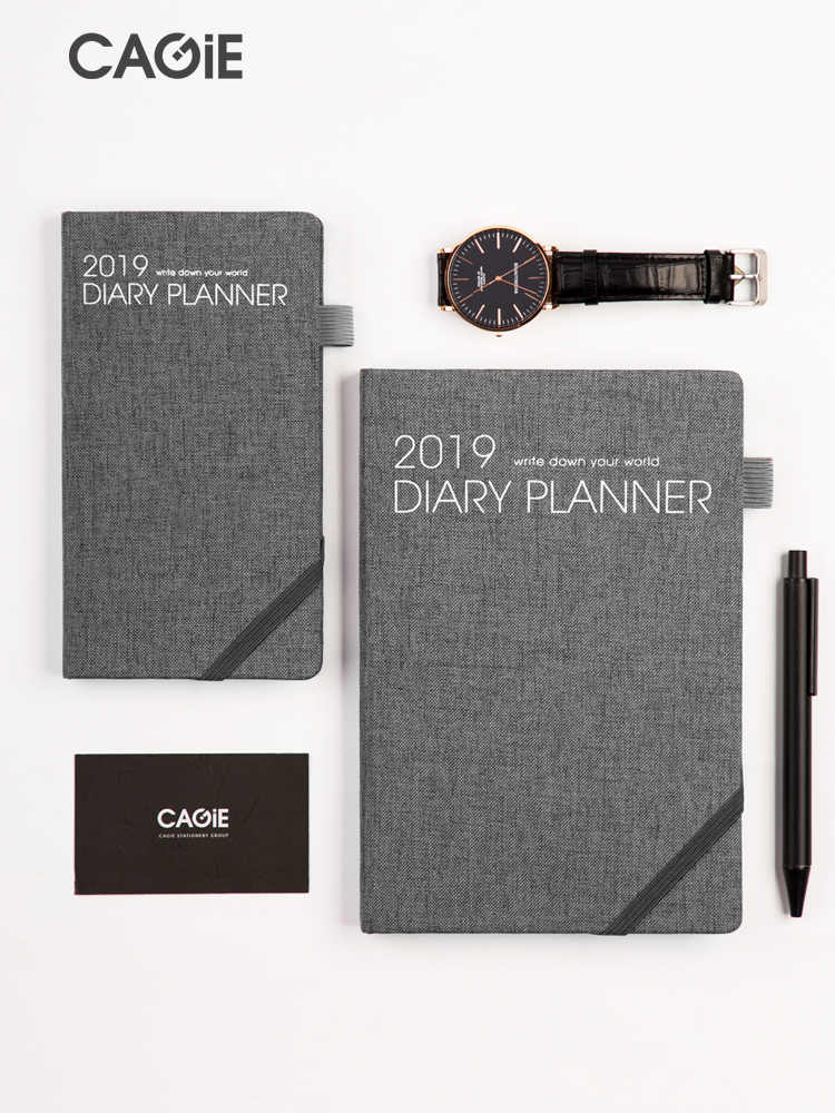 Cagie 2019 Schedules Business Notebook A5 Weekly Plan Efficiency