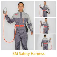 Fall Protection Full Body Safety Harness Industrial Construction Electrician Safety Harness Roofing Tool miller by honeywell ra20 25 xxl 25ftu 25 feet reusable roofing fall protection anchor kit with hardware and xx large harness