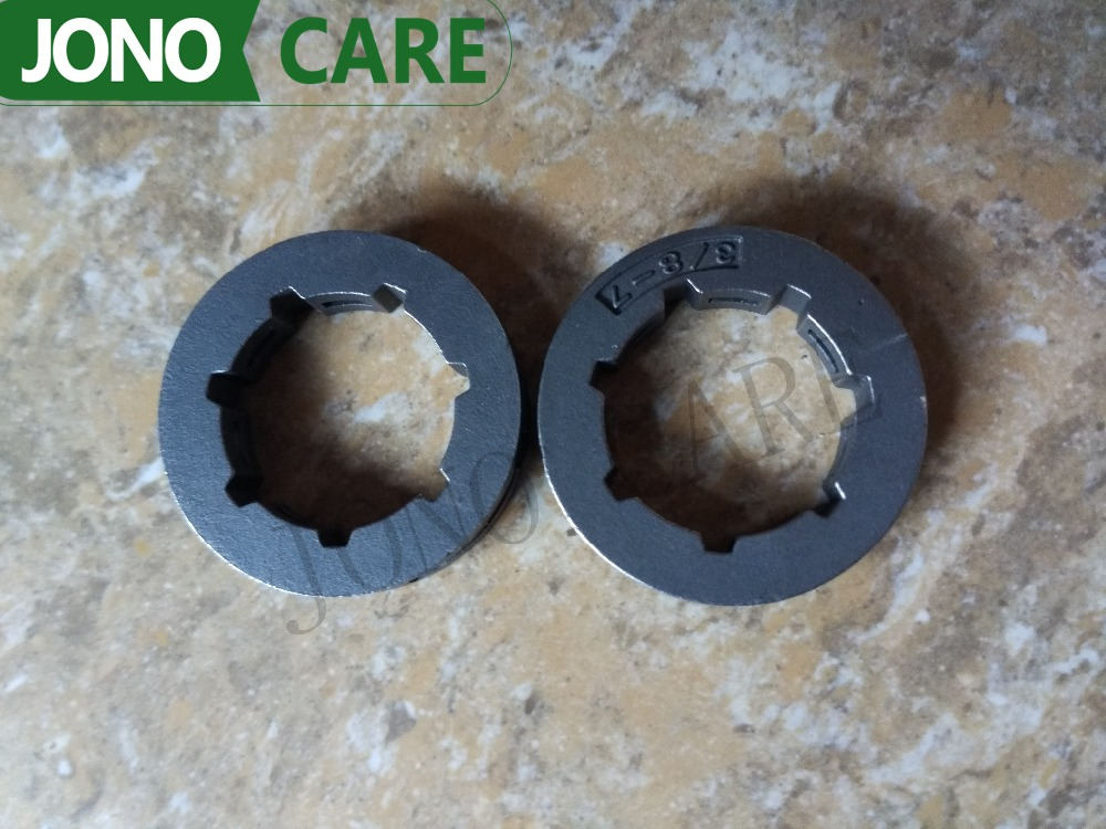 2PCS 3/8 7T Clutch Rim Sprocket For Husqvarna Chainsaw 61 66 266 268 272 362 365 371 372 385 Replace 68210 chain sprocket cover assy for chainsaw 61 262 266 268 272 free shipping partner chain brake parts 503 73 66 01