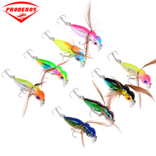 Popper Mini Bee Bird Fishing Lure 45mm/3.6g Hard Bait Wings Fly Wobbler Ocean Topwater Float Isca Artificial Tackle