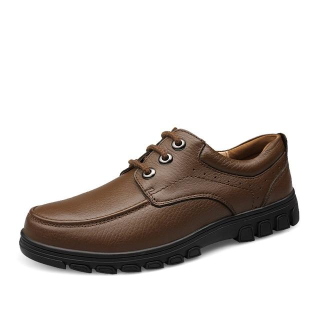 EU38 47 Classic Vintage Para Hombre Botines de Cuero Genuino de Los Hombres Zapatos de Vestir de Lujo Caballero Británico Negocio Zapatos de Cuero Ata