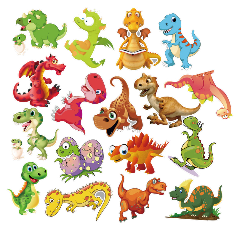 50Pcs Sticker Child Cartoon anime Dinosaur Series Stickers For Notebook PC Skateboard Bicycle Car Moto DIY Waterproof Toy for children  (3)