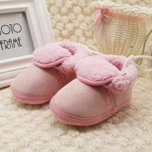 Children Snow Boots Warm Thick Plush Fur Girls Boots Baby Winter Infant Toddler Soft Crib Shoes First Walkers