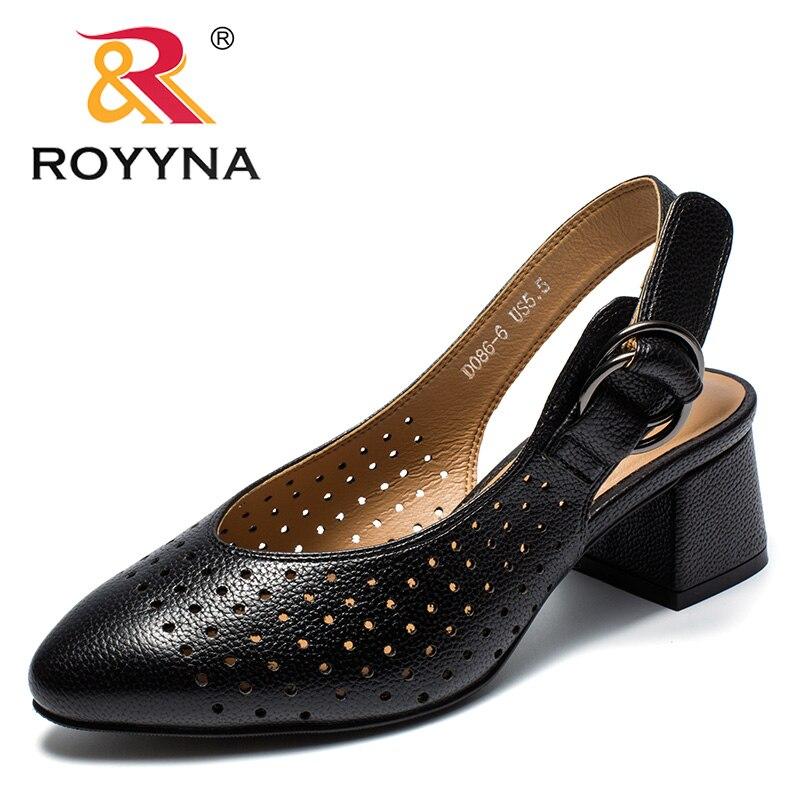 Женские летние сандалии ROYYNA, с пряжкой, в горошек|Боссоножки и сандалии|   | АлиЭкспресс