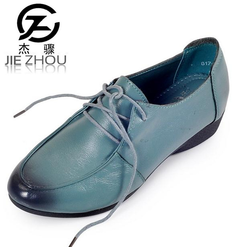Handmade Sewing Weaving Retro Genuine Leather Leisure Women's Shoes Soft bottom Non-slip mom elderly shoes obuv Zapatos mujer genuine leather mom shoes retro flowers soft bottom flats shallow mouth women shoes comfortable large size elderly shoes obuv