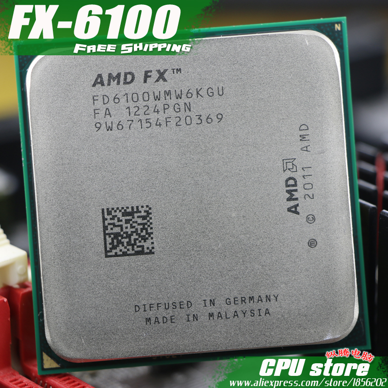 AMD FX 6100 AM3+ 3.3GHz/8MB/95W Six Core CPU Processor FX Serial Pieces FX-6100 (working 100% Free Shipping) Sell Fx 6200 6300